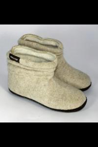 Uldstøvle Beige