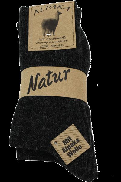 Sokker Alpaka Mørkegrå