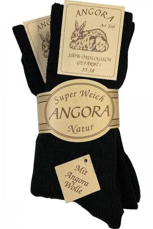 Angora sokker Sort